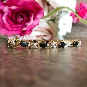 Gold tone XOXO Bracelet